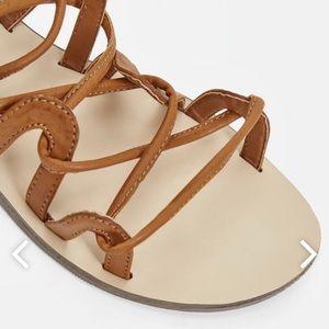 Gladiator lace up sandal